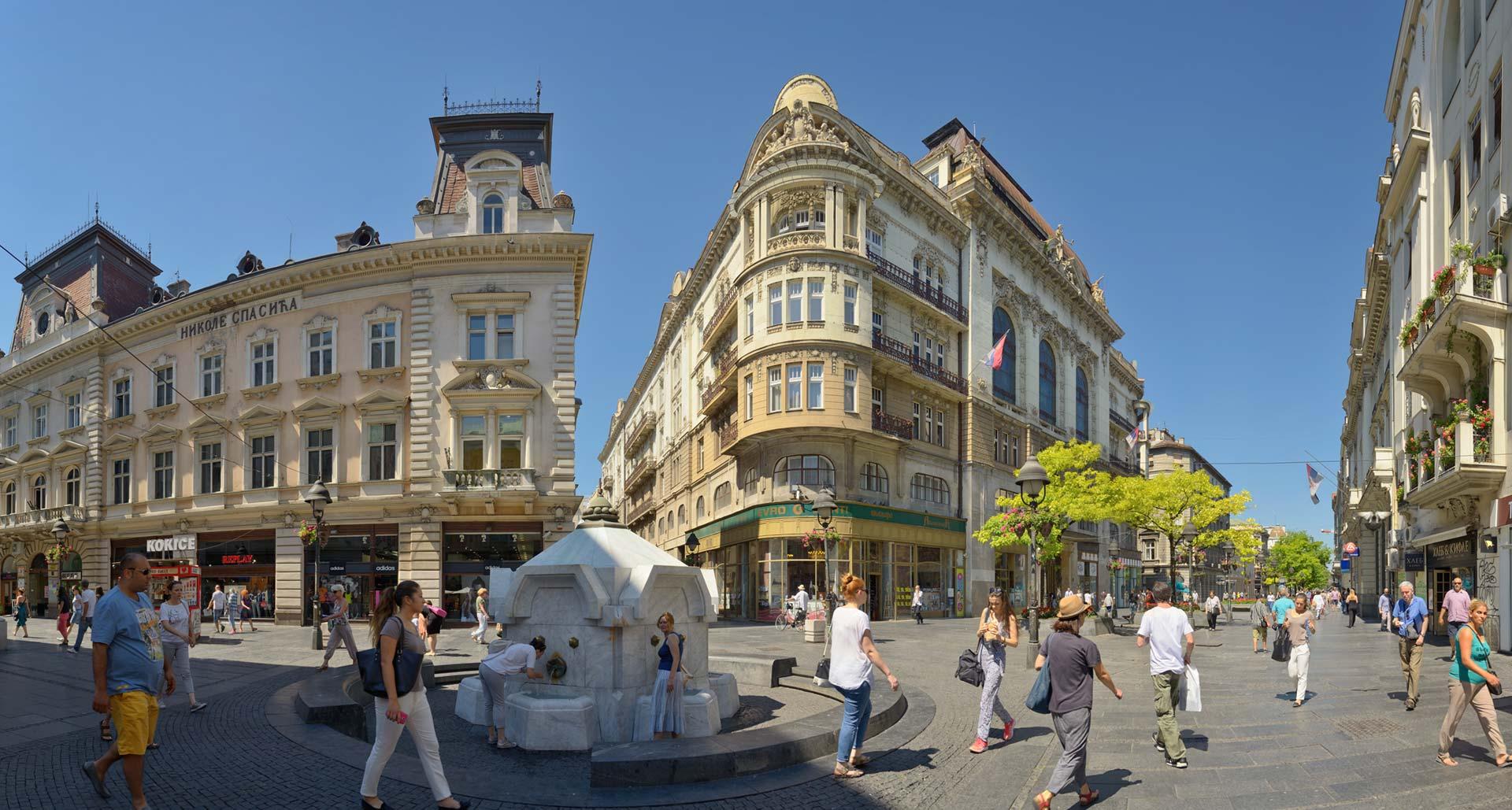 Knez Mihailova Street, Belgrade center